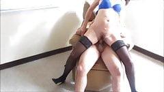 Brunette MILF gets hairy pussy fucked hard