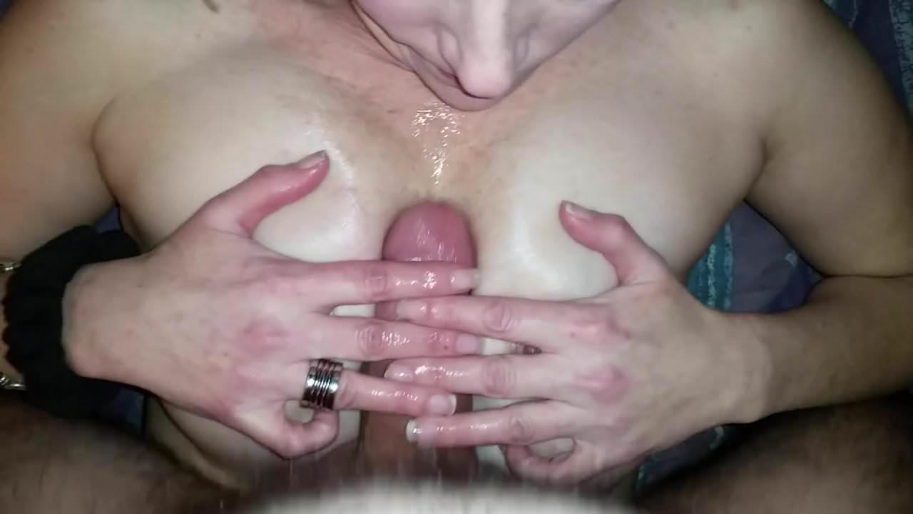 Homemade tit fuck