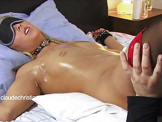 Tied Blonde With Dripping Wet Pussy Licked To Orgasm