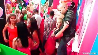 Naughty club sex dolls fucking in public