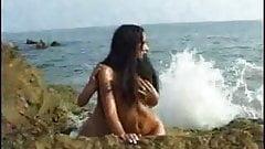 Tender girl girl love on a beach  FM 14