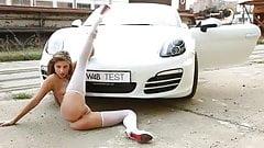Russian Teen Masha - Cars Photosession