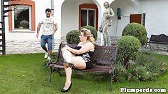 Chubby femdom queening submissive gardener