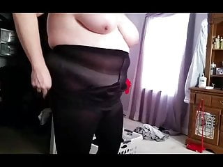 black tights, white pantys, black girdle ready for work