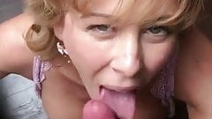 Sexy wife is making blowjob to