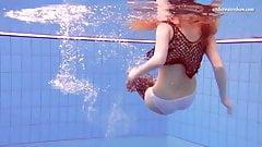 Matrosova hot ginger pussy in the pool