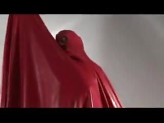 Preview 4 of Latex burqa red