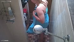 chubby teen in shower