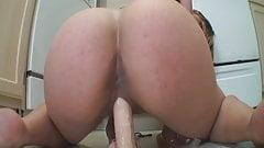 big butt pounds floor dildo