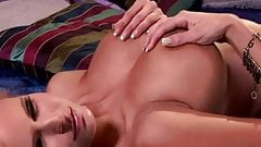 Beautiful Busty Blonde strips