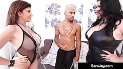 Curvy Cuban Angelina Castro & BBC Get Sara Jay To Submit!
