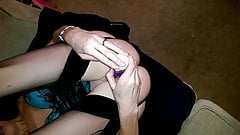 British wife orgasm and fucking with rabbit vibrator