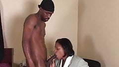 Ebony granny takes a dicking