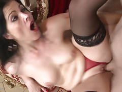 Mature Spanish madre suck and fuck big cock