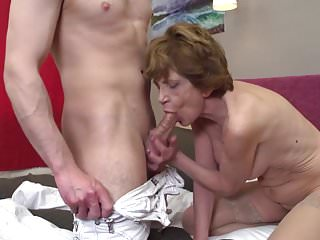 Grandma teaching young boy how 2 fuck a woman