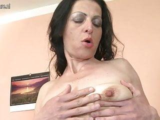 Skinny mature mom needs a good fuck