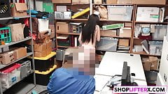 Drilling Cute Brunette Gal For Theft