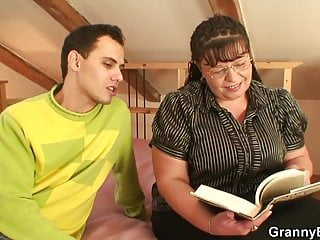 Fat bookworm bitch is picked up for play