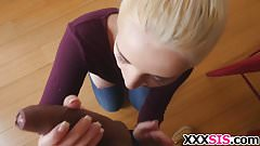 Blonde stepsis Jade Amber gets banged