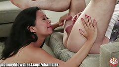 Stepmom Lucky Starr is sucking my best friend!
