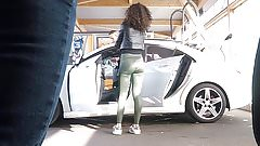 voyeur gorgeous skinny babe wash car