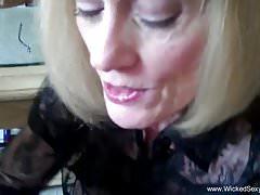 Grandma Gives Son A Blowjob And Takes A Facial