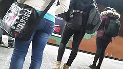 Candid jeans asses HD