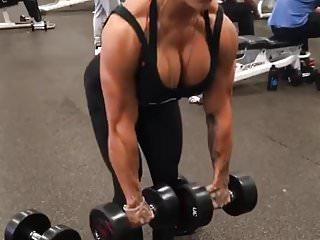 huge fake slutty tits lady huge muscle escort fitness