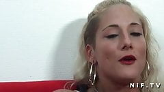 Petite french blonde gets her ass pounded