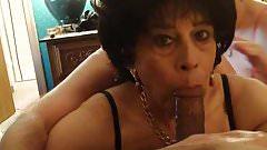 Crossdresser Bobbi Carol gets Spit Roasted