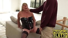 Blonde housewife gets drilled roughly