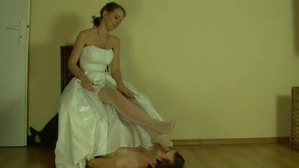 Xhampster wedding day pantyhose