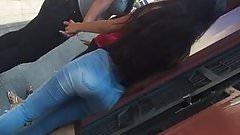 Candid Ass Moreninha de Jeans