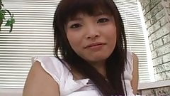 Yurika Goto in short skirt gets hard penis in mouth more and