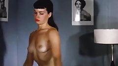Bettie Page - Sleepy Striptease vintage 1950s stockings