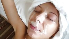AMATEUR GIRL GETS A THICK FACIAL
