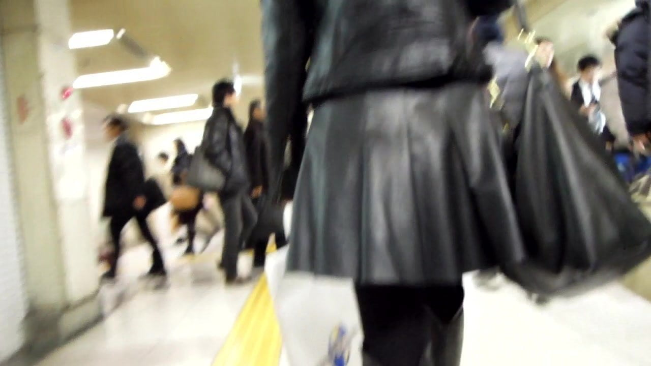 Horny woman in boots bukkake