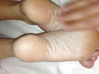 Cuming over my Wife's sexy feet 4