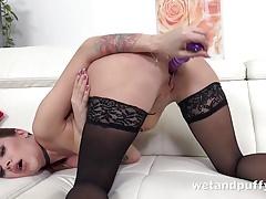 Wetandpuffy - Sexy Stockings Play - Puffy Pussy Lips