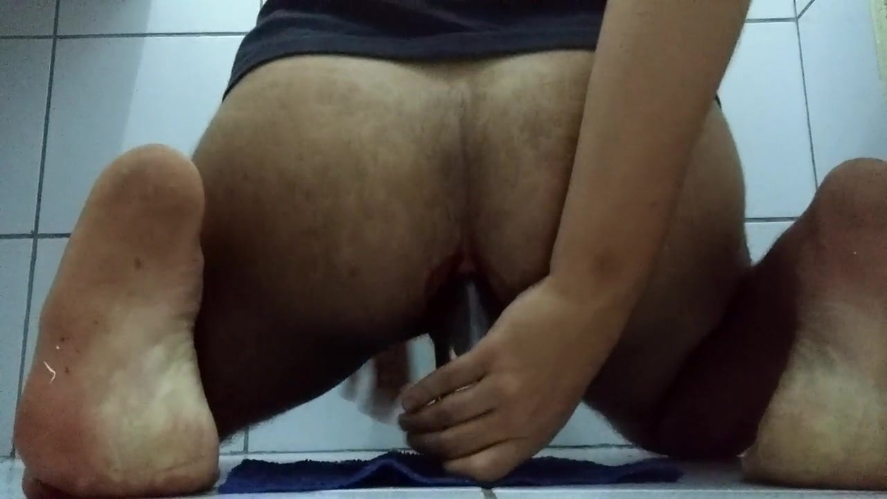 Gay porn using a bottle