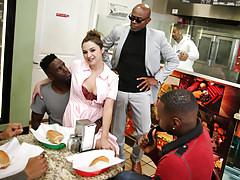 Waitress Elektra Rose Gangbanged By Black Customers