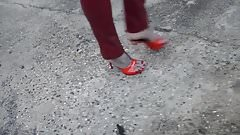 Sexy red mules