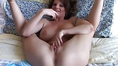Busty old spunker loves to play with her juicy pussy