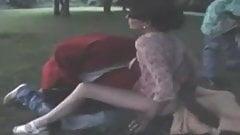 french wife nadine takes blacks in a public park