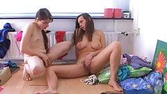 Girlfriends masturbating together
