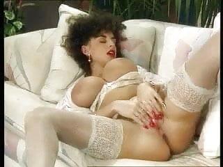 Sarah Young reaching orgasm on Sofa