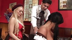 Blonde has her cooter swallow a massive python in POV