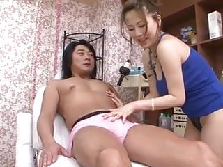 Perky Yuki Aida gives a horndog a sexual massage to last a