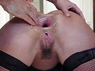 Preview 2 of Amateur wife extreme anal punch fisting and bottle fucking