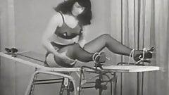 Beautiful Brunette Escapes Her Chains (1950s Vintage)